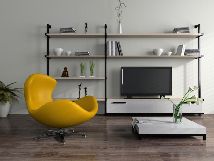Кресло желтого цвета