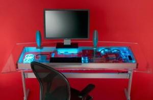Совеременный стол-компьютер в стиле хай=тек