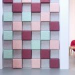 Плитка разных цветов на основе войлока для улучшения качества звука