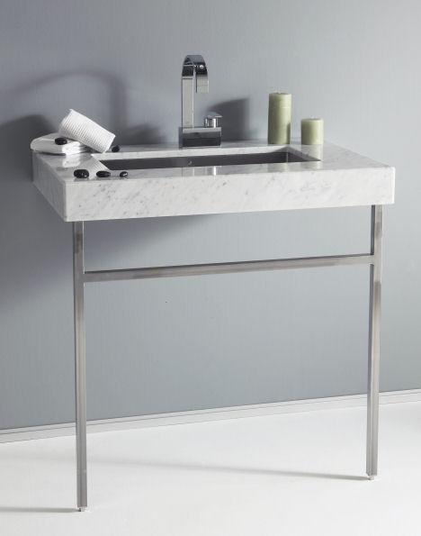 Крепление раковины в ванной на еталлических ножках