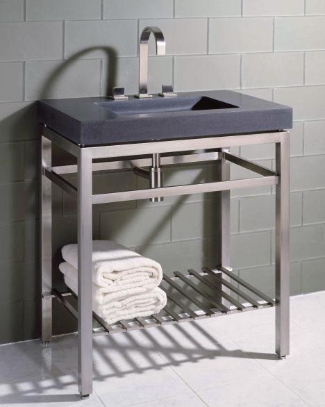 Раковина в ванную с полками