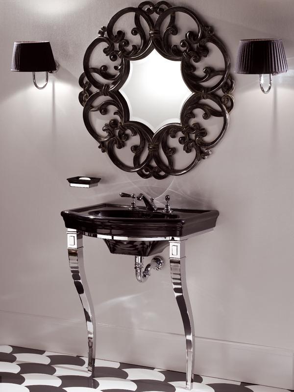 Оригинальное оформление раковины в современной ванной