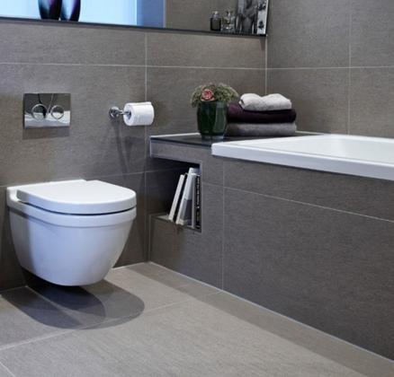 Примеры использования серого цвета в ванной