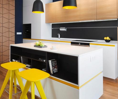 Желтый цвет в современном интерьере