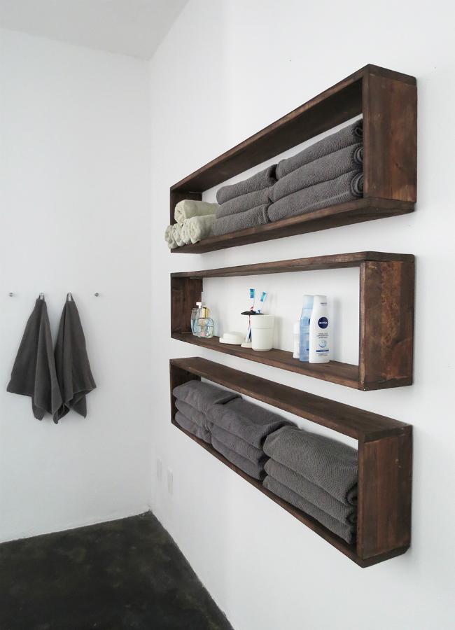DIY настенные полки - Висячие хранения для организованной ванной