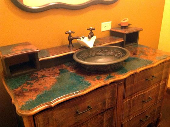 Верде Медь тщеславия ванной