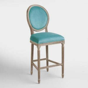 Colorful-barstools-blue-french