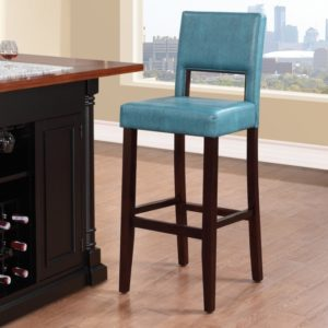 Colorful-barstools-blue-leather