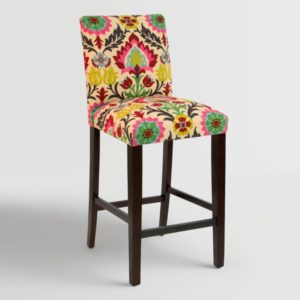 Colorful-barstools-floral-pattern