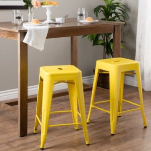 Yellow-tabouret-24-inch-Lemon-Metal-Counter-Stools