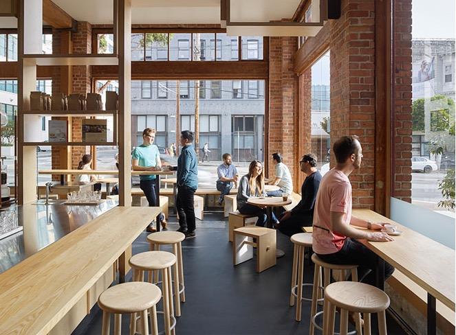 дизайн помещения кофе-шопа