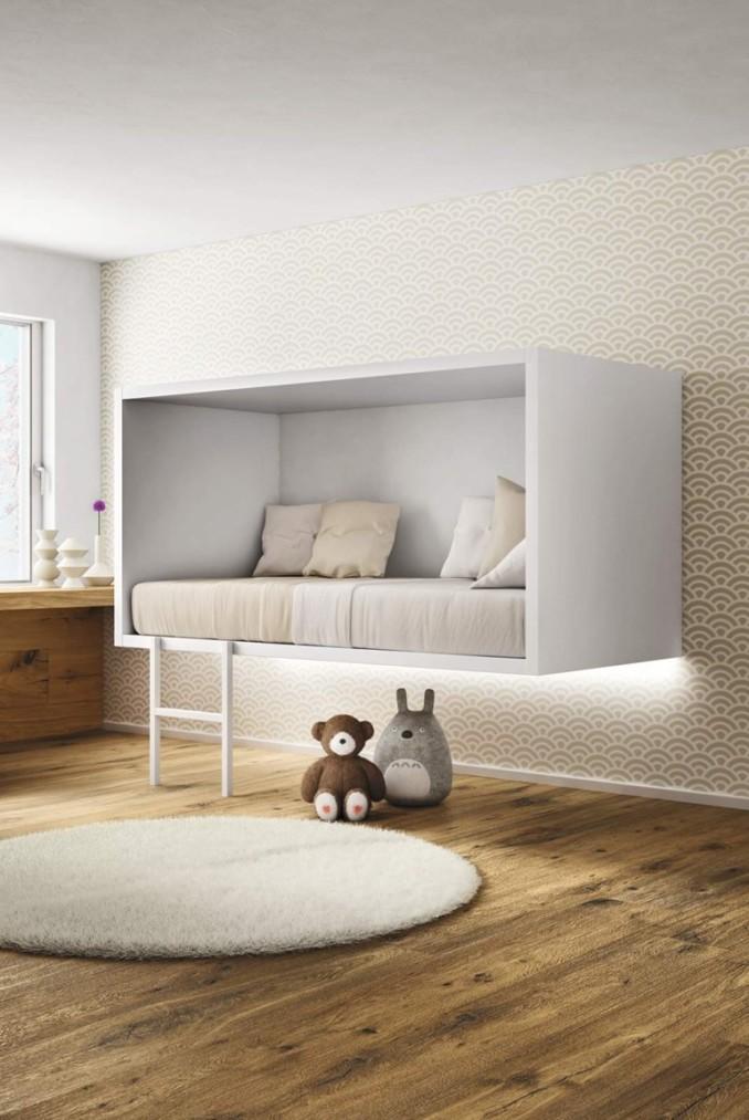 современная детская кровать в стиле хай-тек