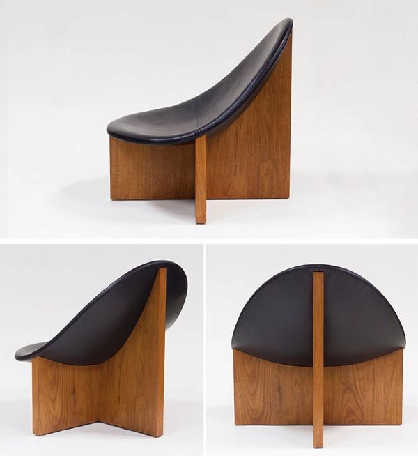 современное кожаное кресло без подлокотников
