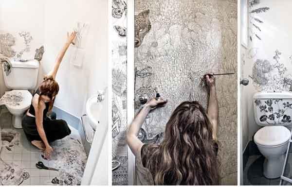 стены роспись вручную