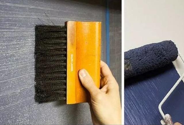 джинсовая ткань на стене