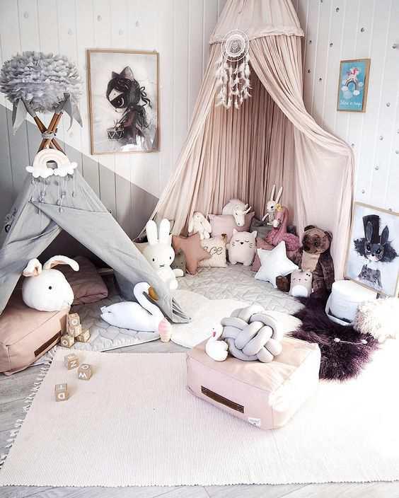 детские кровати с накидкой