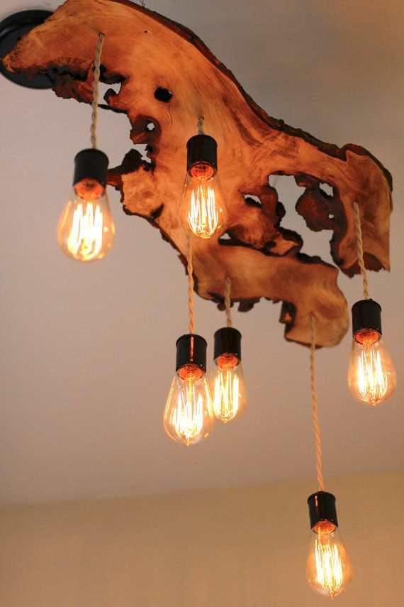 самодельные светильники из дерева