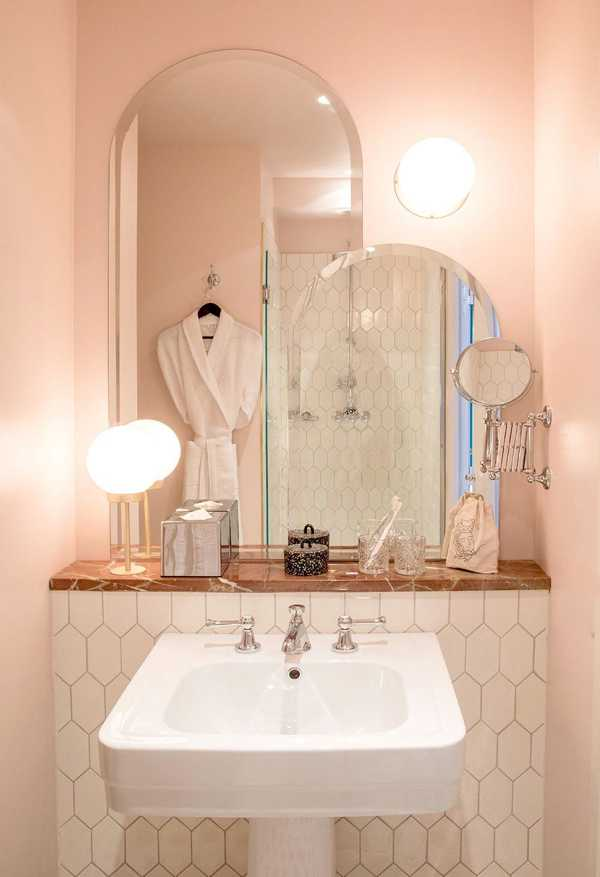 розовая ванная комната оттенки