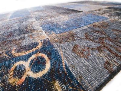 состаренный современный ковёр
