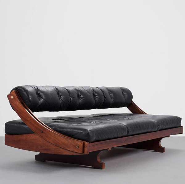Винтажный кожаный диван Италия 60-е годы