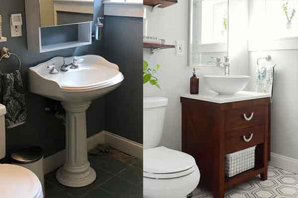 полная переделка маленькой ванной комнаты своими руками