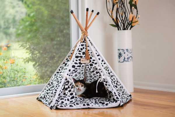 домик для кота в виде индейского вигвама