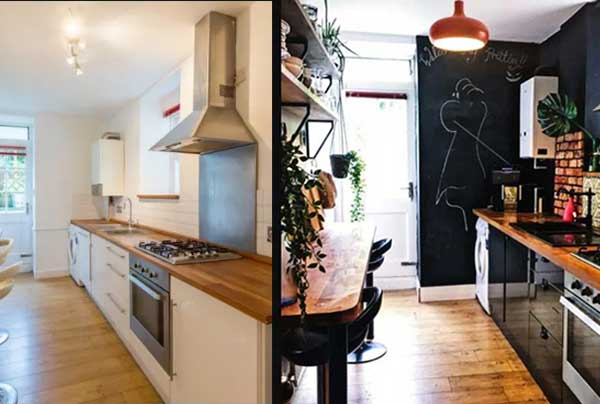 Ремонт и перекраска кухни до и после