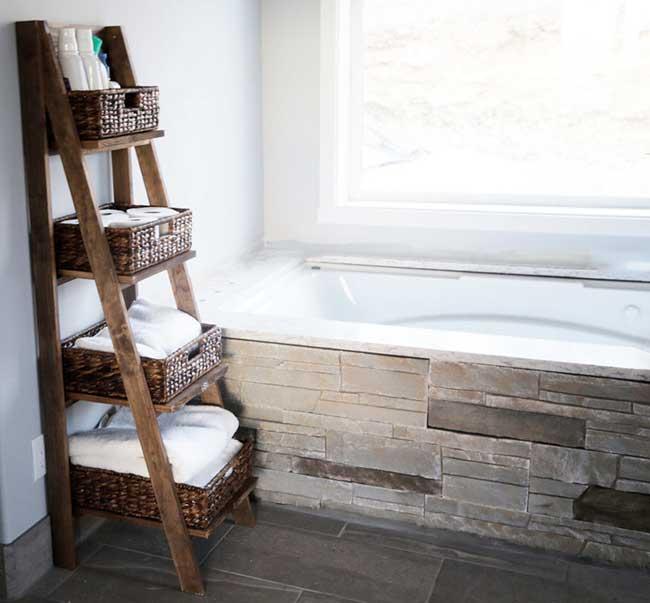 самодельные полки для ванной