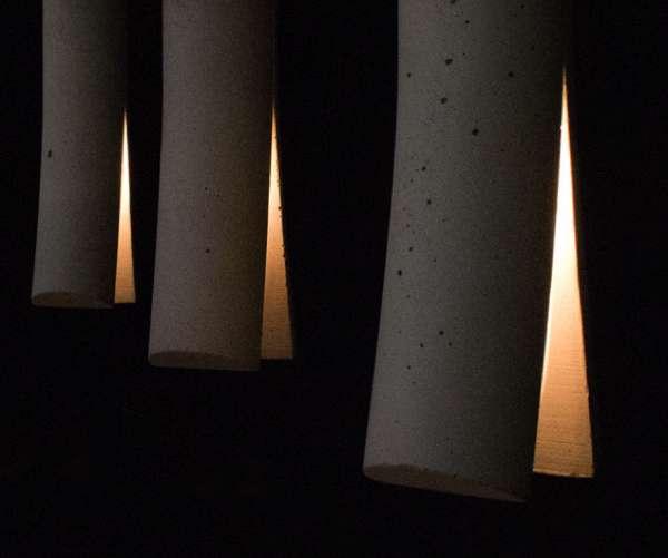 светильник из бетона