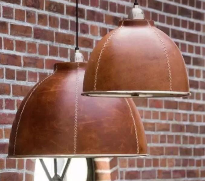 Кожаная подвесная лампа